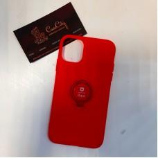 Силиконовый чехол с кольцом для Apple iPhone 11, красный