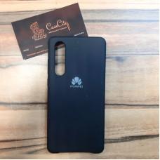 """Силиконовый чехол """"Silicone Case"""" для Huawei P30, чёрный"""
