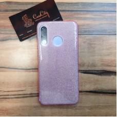 """Силиконовый чехол """"EXPERTS"""" блестяшка для Huawei P30 Lite, розовый"""
