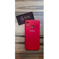 Чехол-накладка для Samsung Galaxy A20 Красный