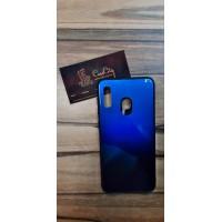 Чехол-накладка для Samsung Galaxy А40 Чёрно-синий