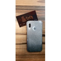 Чехол-накладка для Samsung Galaxy A40 Серебряно-чёрный
