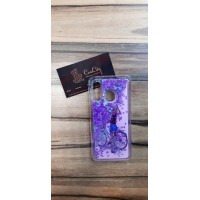 Чехол пересыпка для Samsung Galaxy А40 Фиолетовый с узором