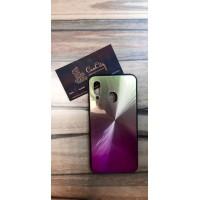 Чехол-накладка для Samsung Galaxy A40 Фиолетово-золотой