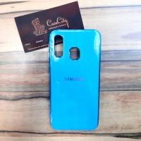 Силиконовый чехол-накладка для Samsung Galaxy А40, голубой