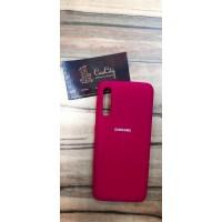 Чехол-накладка для Samsung Galaxy A50, бордовый