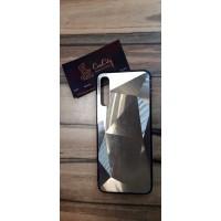 Чехол-накладка для Samsung Galaxy A50 золотой, зеркальный