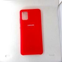 Чехол накладка Silicon Case для Samsung Galaxy A51, красный