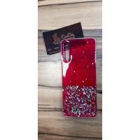 Чехол пересыпка для Samsung Galaxy А70, красный