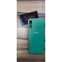Силиконовый чехол для Samsung A70 зелёный