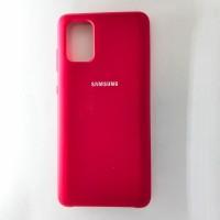 Чехол Silicon Case для Samsung Galaxy A71, бордовый