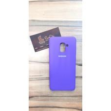 Силиконовый чехол Silicon Case для Samsung Galaxy A7 A750 (2018), фиолетовый