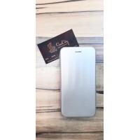 Чехол-книга для Samsung Galaxy A8 Plus (A730) , сатин серебро