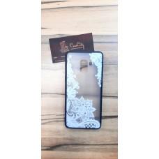Силиконовый чехол для Samsung Galaxy A8 Plus (A730) , с белым узором