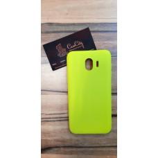 Силиконовый чехол для Samsung Galaxy J4 J400, жёлтый