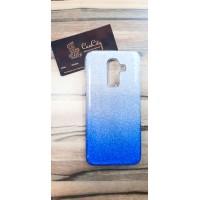 """Силиконовый чехол """"EXPERTS"""" с градиентом для Samsung Galaxy J8, синий"""