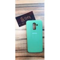 Силиконовый чехол Silicone Case для Samsung Galaxy J8, зелёный