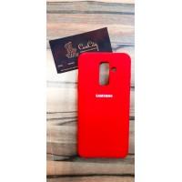 Силиконовый чехол Silicone Case для Samsung Galaxy J8, красный