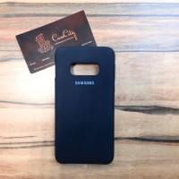 """Силиконовый чехол """"Silicone Case"""" для Samsung Galaxy S10E (G970), чёрный"""