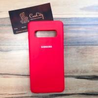 """Силиконовый чехол """"Silicone Case"""" для Samsung Galaxy S10 (G973), красный"""