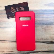 """Силиконовый чехол """"Silicone Case"""" для Samsung Galaxy S10E (G970), красный"""