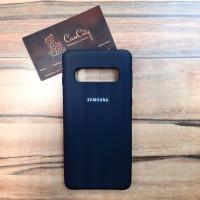"""Силиконовый чехол """"Silicone Case"""" для Samsung Galaxy S10 Plus (G975), чёрный"""