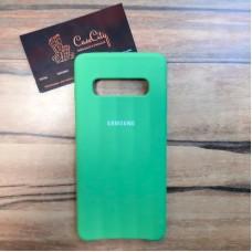 """Силиконовый чехол """"Silicone Case"""" для Samsung Galaxy S10 Plus (G975), зелёный"""