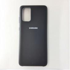 Чехол накладка Silicon Case для Samsung Galaxy S20+, чёрный