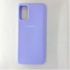 Чехол накладка Silicon Case для Samsung Galaxy S20+, сиреневый