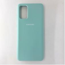 Чехол накладка Silicon Case для Samsung Galaxy S20+, бирюзовый
