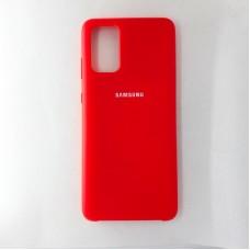 Чехол накладка Silicon Case для Samsung Galaxy S20+, красный