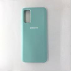 Чехол накладка Silicon Case для Samsung Galaxy S20, бирюзовый