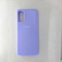 Чехол накладка Silicon Case для Samsung Galaxy S20, сиреневый