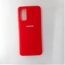 Чехол накладка Silicon Case для Samsung Galaxy S20, красный