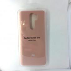 Чехол-накладка Silicon Case для Xiaomi Redmi Note 8 Pro, розовый