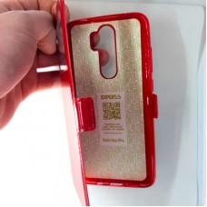 Чехол-книжка EXPERTS для Xiaomi Redmi Note 8 Pro, с окошком, красный