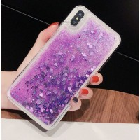 Чехол пересыпка для Huawei P20 фиолетовый