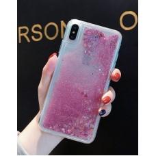 Чехол пересыпка для Samsung Galaxy J530 (2017) розовый