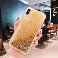 Чехол пересыпка для Samsung Galaxy A6 (2018) золотой