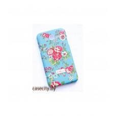 Чехол-накладка Samsung Galaxy J7 пластик с рисунком и софттач покрытием