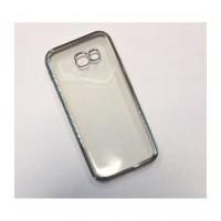 Чехол -накладка для Samsung Galaxy A5 (2017) A520F силикон с металлизированным бампером