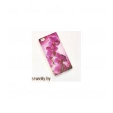 Чехол для Huawei P8 Lite Силикон накладка с рисунками цветы