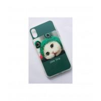 Чехол для iPhone X накладка силикон кот