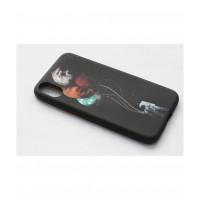 Чехол для iPhone X накладка силикон мягкий с рисуном