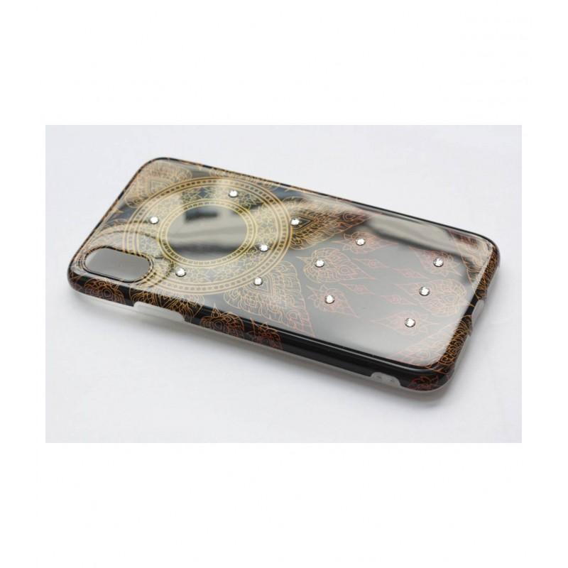 Чехол для iPhone X накладка силикон со стразами BeckBerg вид 3