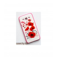 Чехол-накладка с рисунком для  Samsung Galaxy A3 силикон