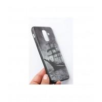 Чехол для Samsung Galaxy A6+Plus силикон с рисунками корабль