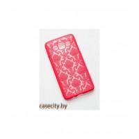 Чехол-накладка для  Samsung Galaxy A3 пластик  дамасские узоры