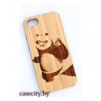 Чехол для iPhone 7 деревянный панда
