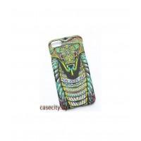 Чехол -накладка для iPhone 8 пластик Luxo змея, носорог, панда
